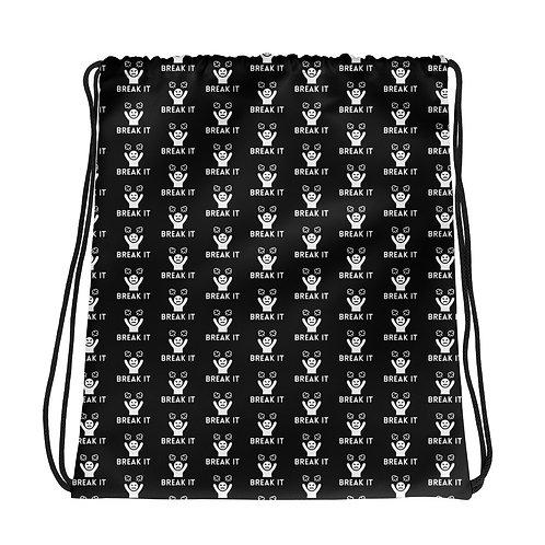Break It Drawstring bag (Black)