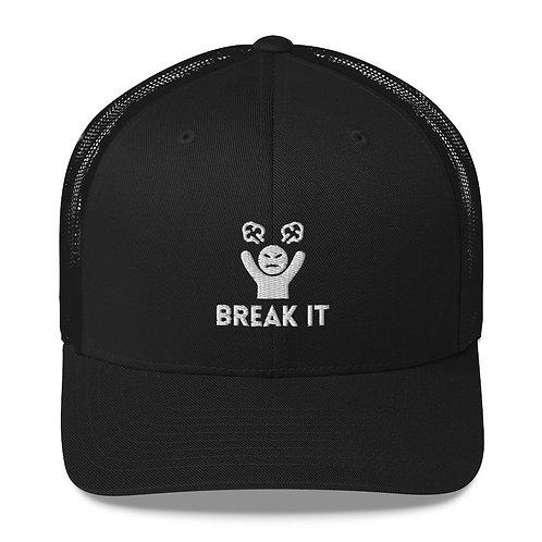 Break It Black Trucker Hat