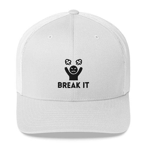 Break It White Trucker Hat