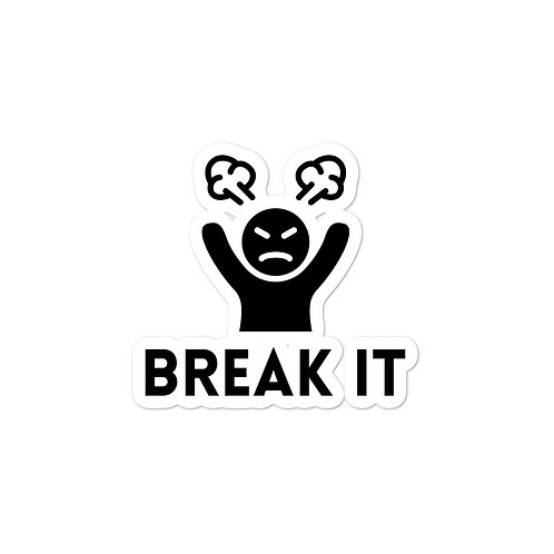 Break It Logo Sticker (Black)