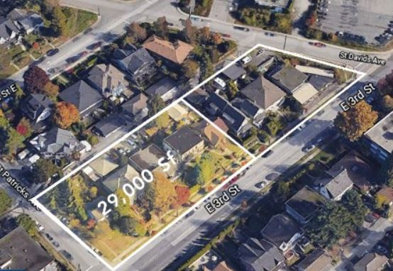Assembly and Sale of the full city block at 400 E3rd, North Vancouver in 2 phases, 50,000 sf of land for $30,000,000