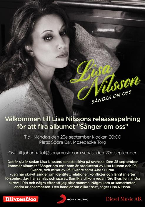Singer/Artist Lisa Nilsson