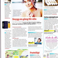"Article in ""Tidningen hälsa"" health magazine"