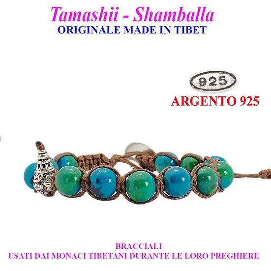 Bracciale Tamashii-Shamballa Crisocolla