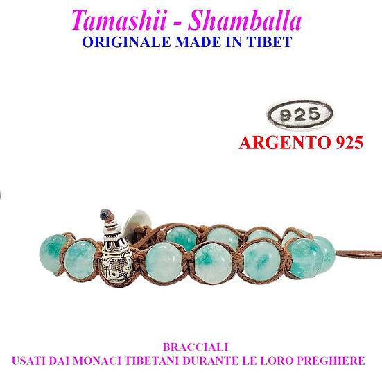 Bracciale Tamashii-Shamballa Agata Verde Persia
