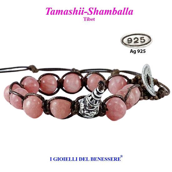 Bracciale Tamashii-Shamballa Rodocrosite