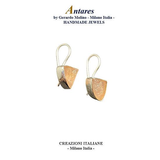 """Orecchini """"Antares"""" in Ag 925 con Quarzo Rosa"""