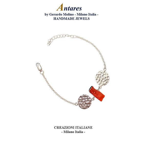 "Bracciale ""Antares"" in Ag 925 con Corniola"