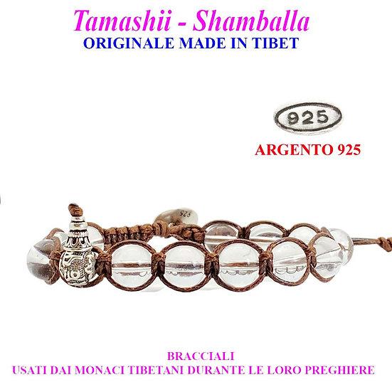 Bracciale Tamashii-Shamballa Cristallo di Rocca