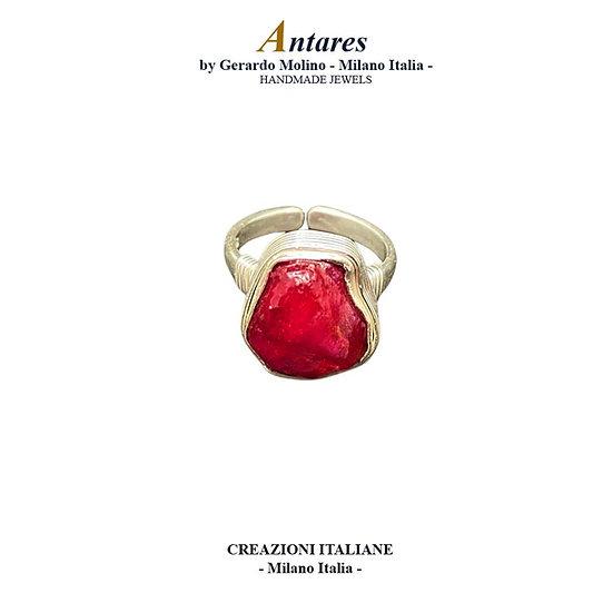 "Anello ""Antares"" in Ag 925 con Rubino"