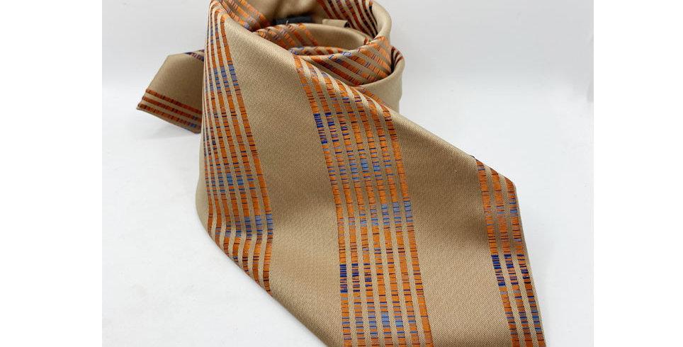 Cravatta modello 7 pieghe realizzata a mano in PURA SETA NATURALE