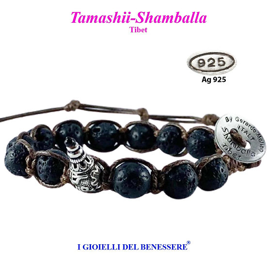 Bracciale Tamashii-Shamballa Lava Nera