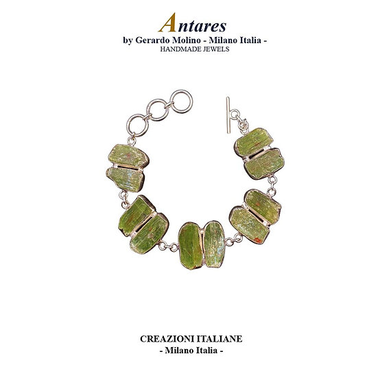 "Bracciale ""Antares"" in Ag 925 con Cianite Verde"