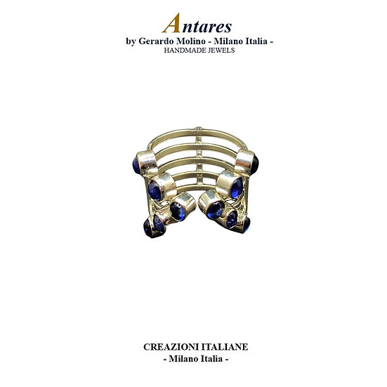 """Anello """"Antares"""" in Ag 925 con Zaffiro"""