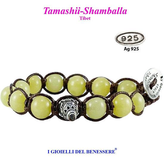Bracciale Tamashii-Shamballa Wax Jade