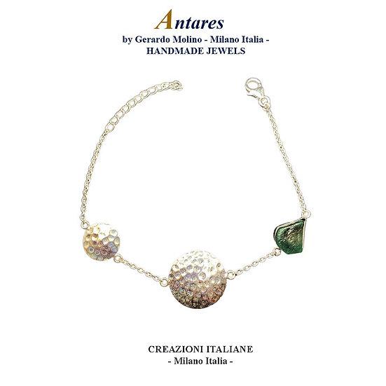 "Bracciale ""Antares"" in Ag 925 con Smeraldo"
