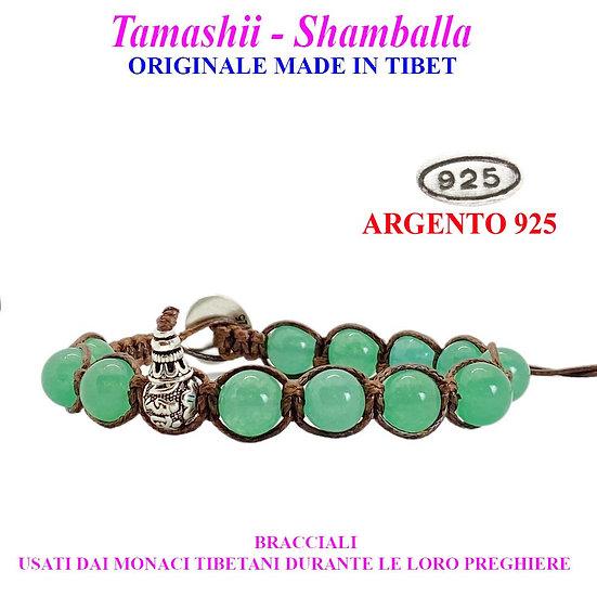 Bracciale Tamashii-Shamballa Giada Verde Lago