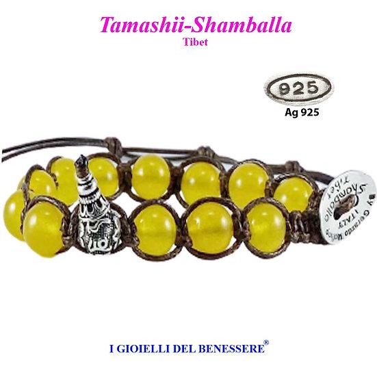 Bracciale Tamashii-Shamballa Agata Gialla