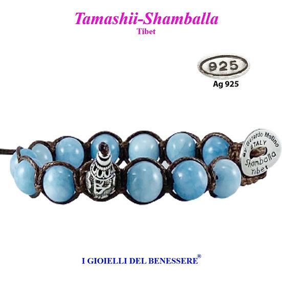 Bracciale Tamashii-Shamballa Agata Sky Tibet