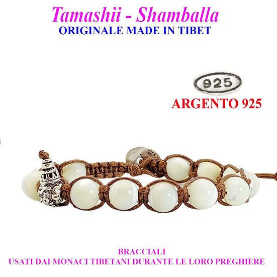 Bracciale Tamashii-Shamballa Madreperla Bianca