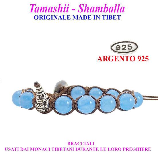 Bracciale Tamashii-Shamballa Agata Azzurra