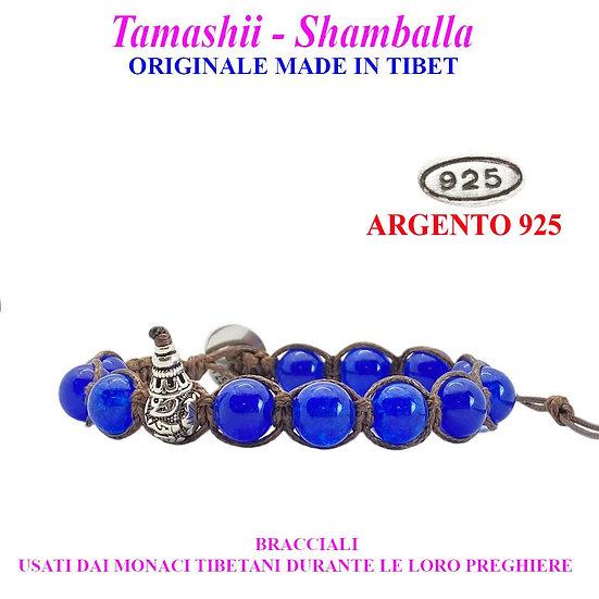 Bracciale Tamashii-Shamballa Agata Blu
