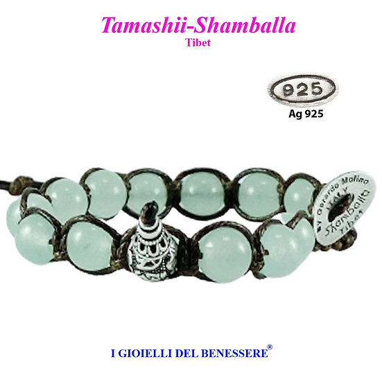 Bracciale Tamashii-Shamballa Agata Verde Menta
