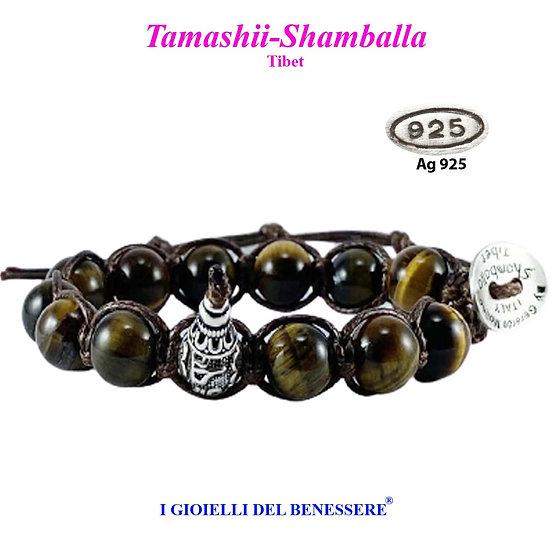 Bracciale Tamashii-Shamballa Occhio di Tigre