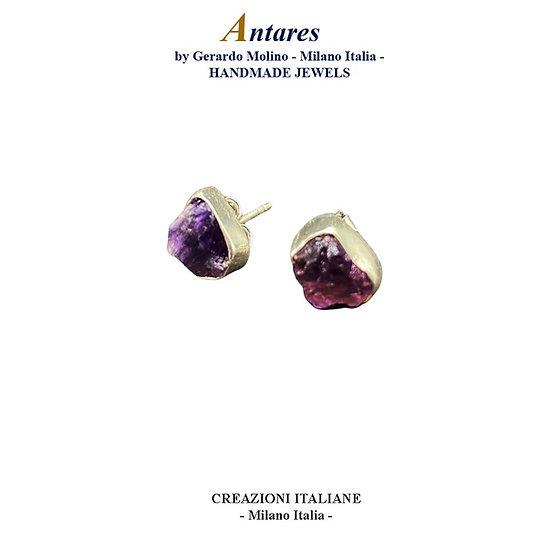 """Orecchini """"Antares"""" in Ag 925 con Ametista"""