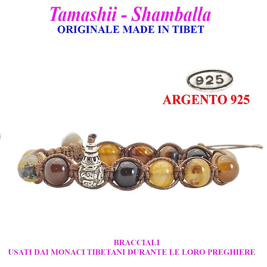 Bracciale Tamashii-Shamballa Agata Marrone