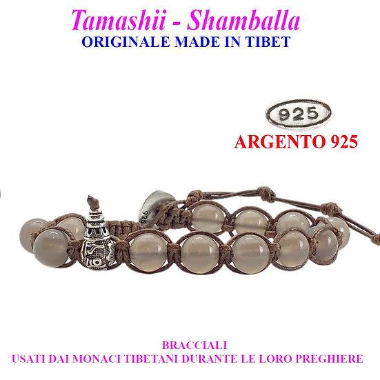 Bracciale Tamashii-Shamballa Agata Grigia