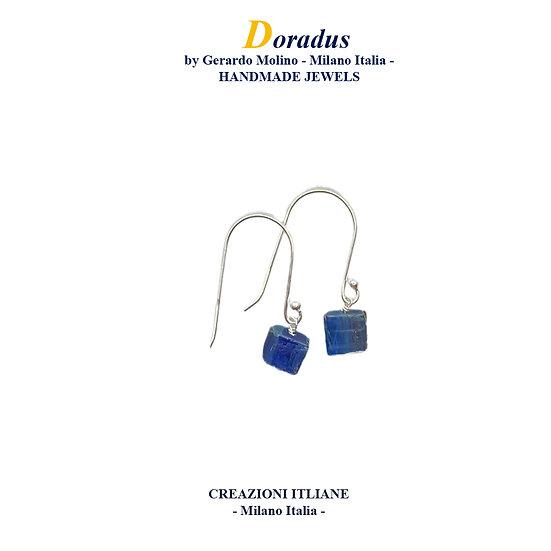 Orecchini in Argento 925 con Cianite Blu