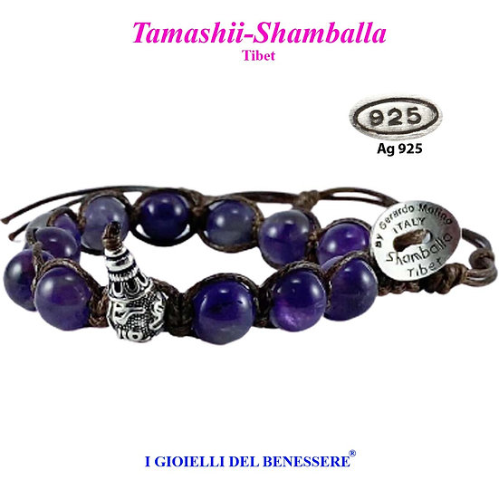 Bracciale Tamashii-Shamballa Ametista
