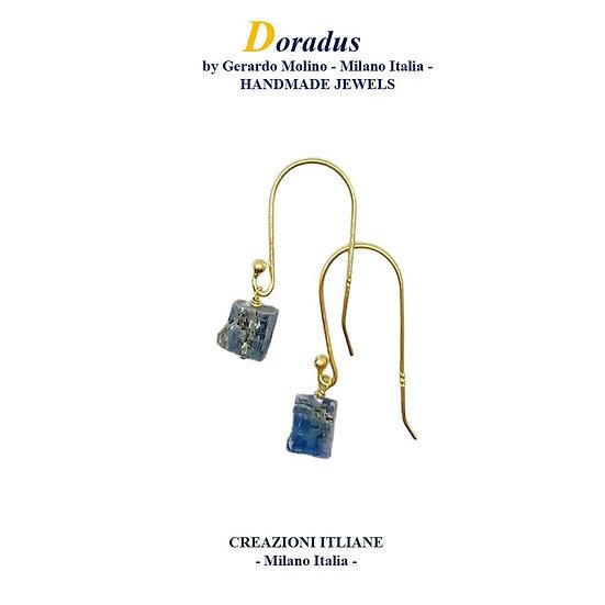 Orecchini in Argento 925 placcati Oro 750 con Cianite
