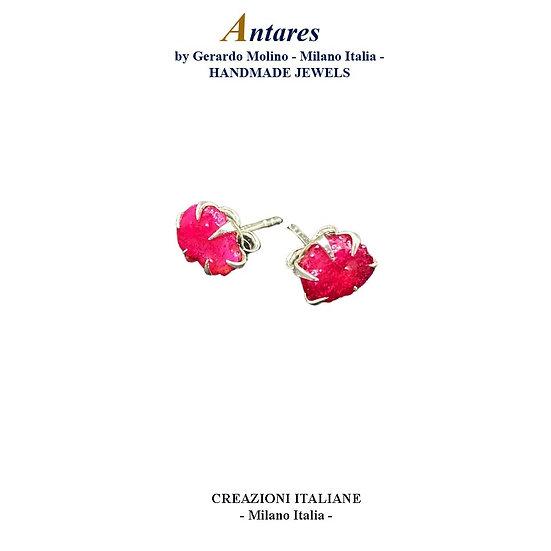 """Orecchini """"Antares"""" in Ag 925 con Rubino"""