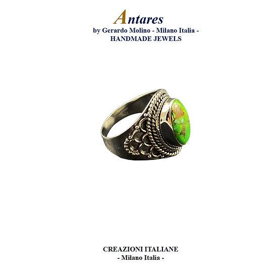 """Anello """"Antares"""" in Ag 925 con Turchese Copper"""