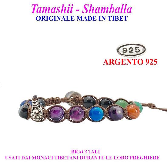 Bracciale Tamashii-Shamballa Agata Striata Mix