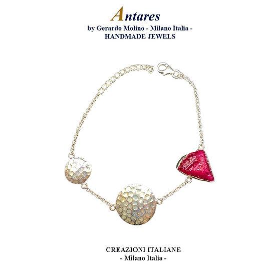 """Bracciale """"Antares"""" in Ag 925 con Rubino"""