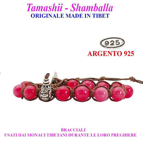 Bracciale Tamashii-Shamballa Agata Rosso Passione