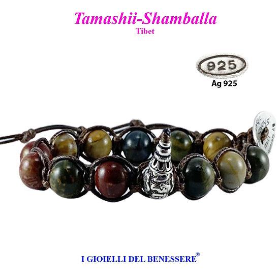 Bracciale Tamashii-Shamballa Diaspro Picasso