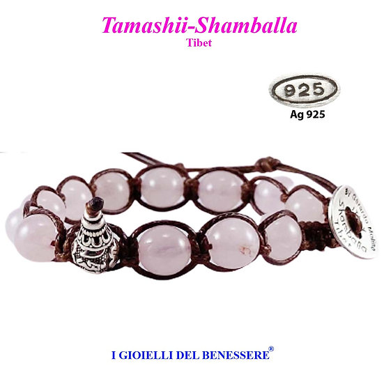 Bracciale Tamashii-Shamballa Quarzo Rosa