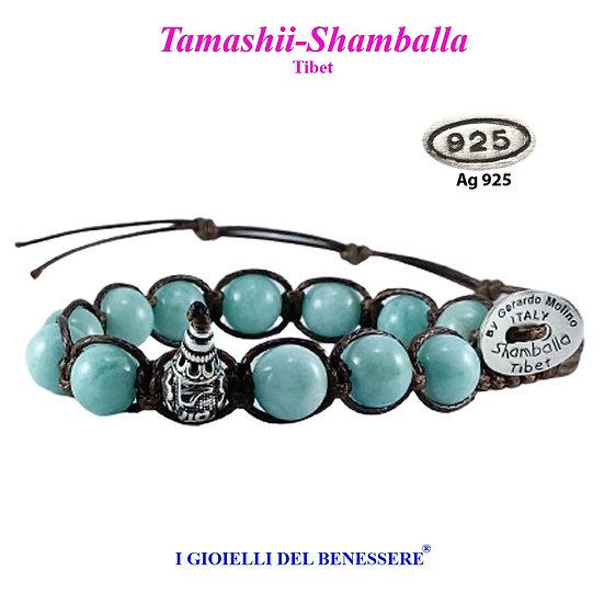 Bracciale Tamashii-Shamballa Amazonite