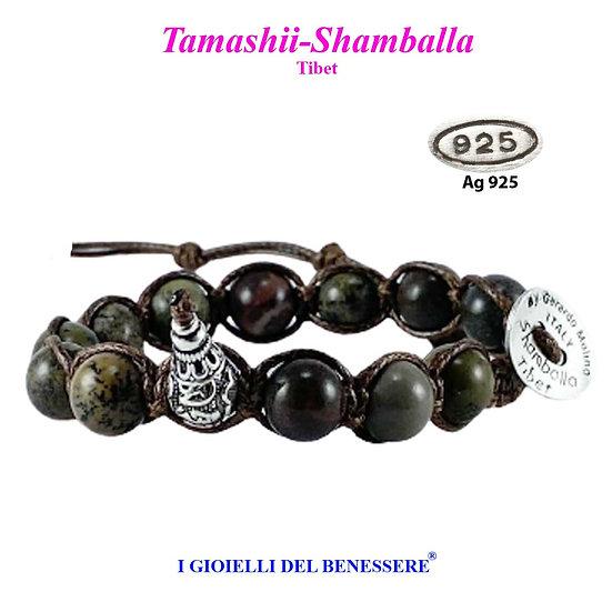 Bracciale Tamashii-Shamballa Diaspro Artico