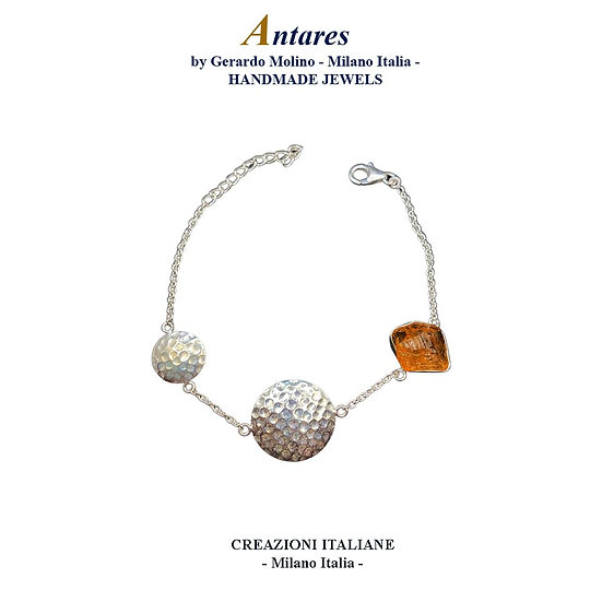 """Bracciale """"Antares"""" in Ag 925 con Quarzo Citrino"""