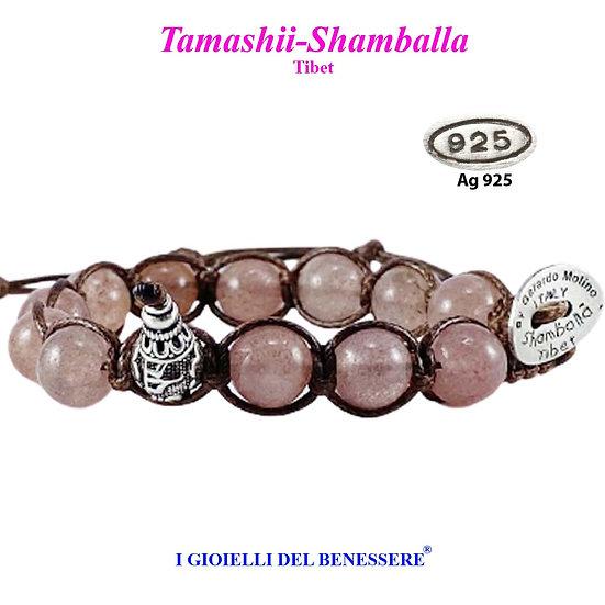 Bracciale Tamashii-Shamballa Quarzo Strawberry