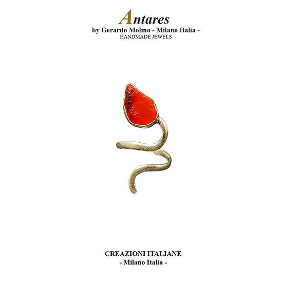 """Anello """"Antares"""" in Ag 925 con Corniola"""
