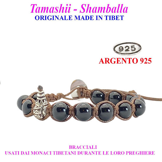 Bracciale Tamashii-Shamballa Giada Nera