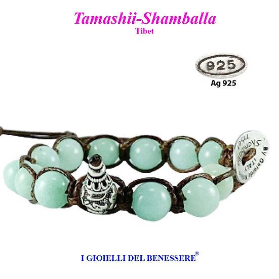 Bracciale Tamashii-Shamballa Giada Verde Acqua