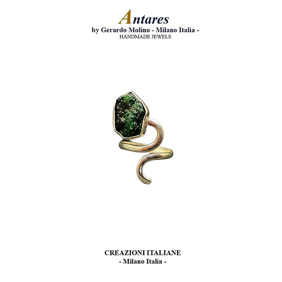 """Anello """"Antares"""" in Ag 925 con Smeraldo"""