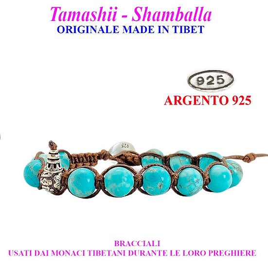 Bracciale Tamashii-Shamballa Turchese